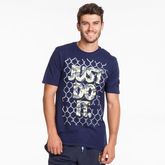 NIKE Camiseta Marino Hombre