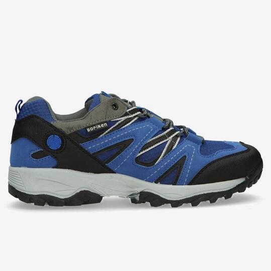 Zapatillas Montaña BORIKEN Azul Negro Hombre