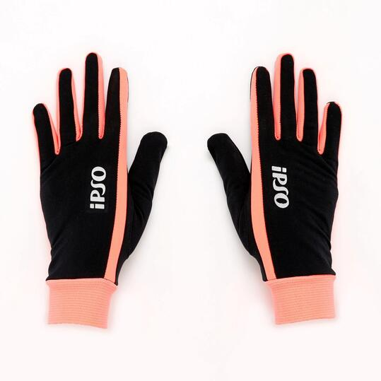 Guantes Running IPSO Negro Coral
