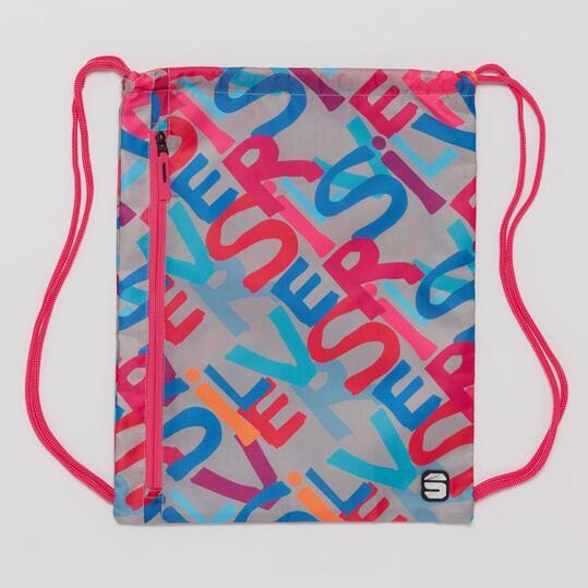 Gymsack SILVER Estampado Gris Multicolor