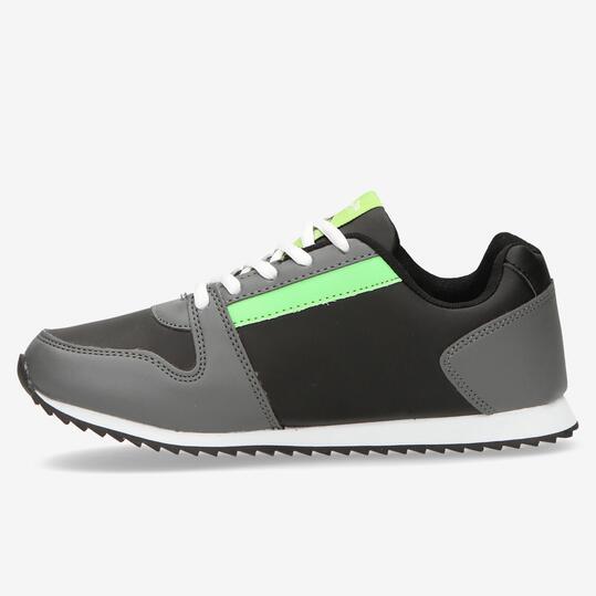 Sneakers SILVER Negro Niño (36-39)