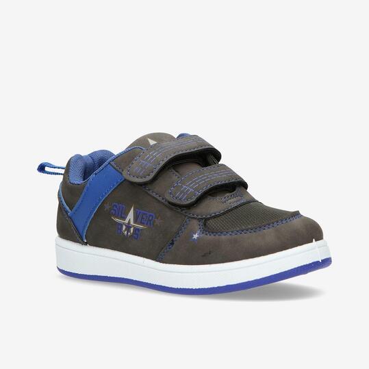 Zapatillas Casual Velcros SILVER Gris Niño (28-35)