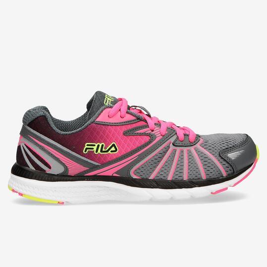FILA MEMORY Zapatillas Running Gris Fucsia Mujer