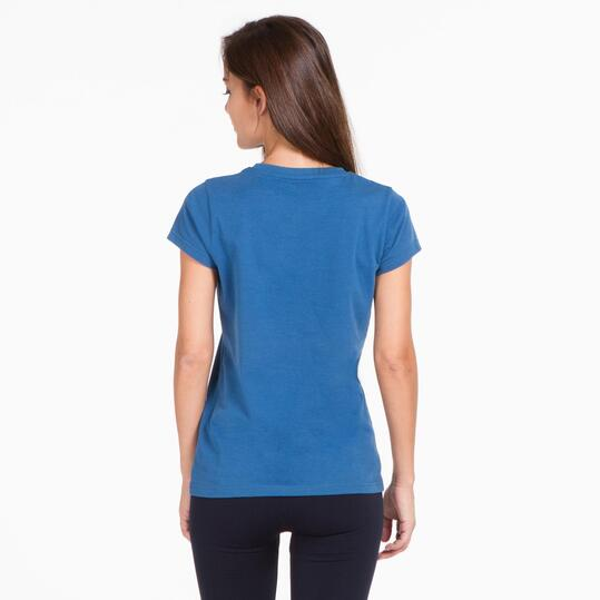 Camiseta Manga Corta UP BASIC Denim Mujer