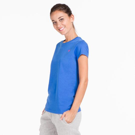 Camiseta Manga Corta UP BASIC Azul Mujer