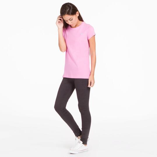 Camiseta Manga Corta UP BASIC Rosa Mujer