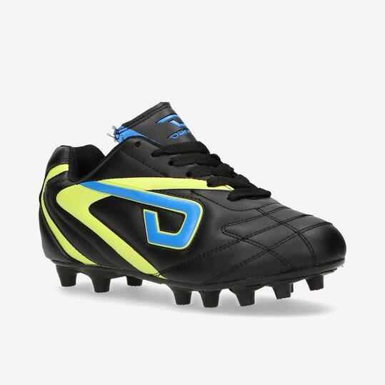 Botas Fútbol Tacos DAFOR Negro Niño (32-35)