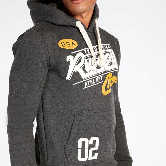 Sudadera Capucha RUSSEL ATHLETIC Gris Oscuro Hombre