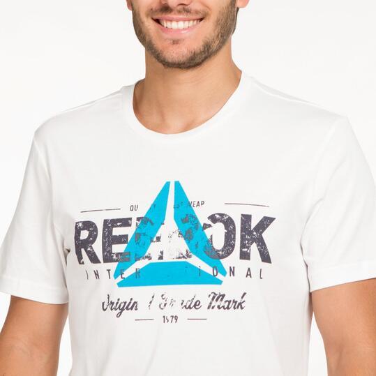 REEBOK Camiseta Manga Corta Blanco Hombre