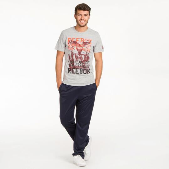REEBOK Camiseta Manga Corta Gris Hombre