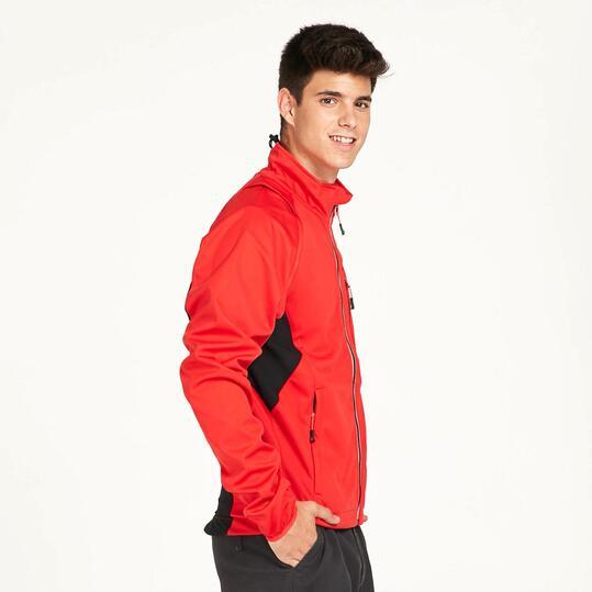 Chaqueta Softshell BORIKEN TRANSFORMER Rojo Hombre