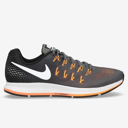 NIKE AIR ZOOM PEGASUS 33 Zapatillas Running Azul Gris Naranja Hombre