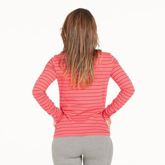 FILA Camiseta Rayas Fucsia Mujer