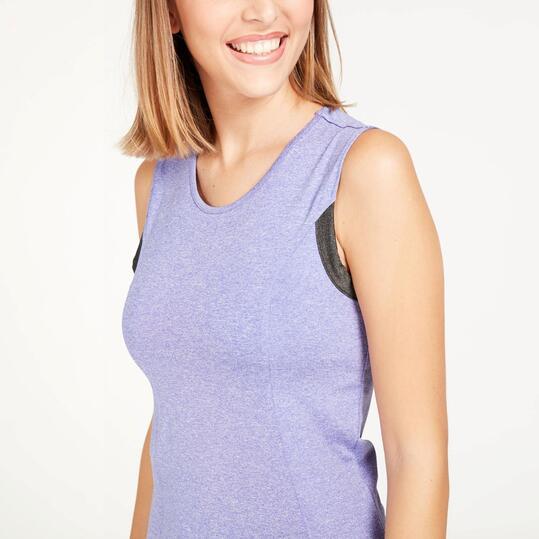 Camiseta Sin Mangas SILVER Morado Mujer