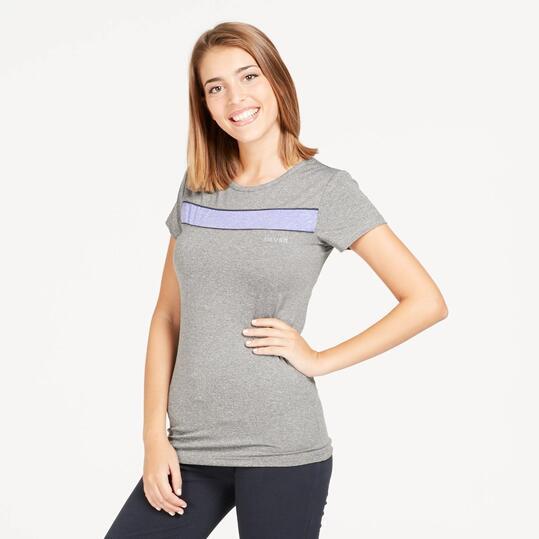 Camiseta Manga Corta SILVER Gris Mujer