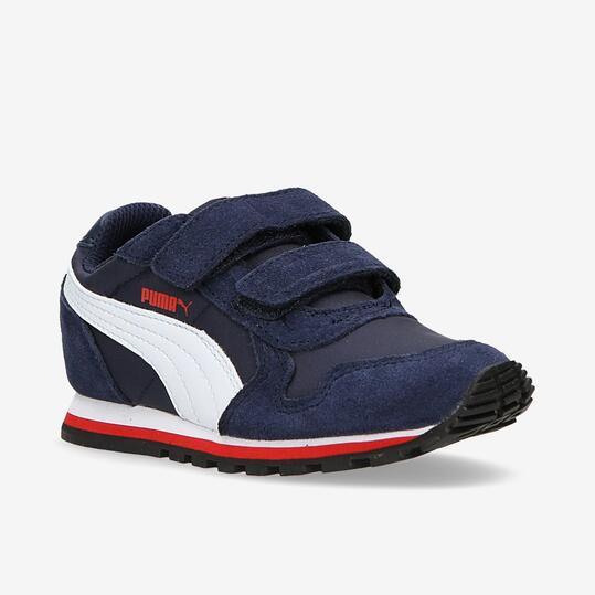 PUMA RUNNER Sneakers Azul Marino Velcro Niño (22-27)