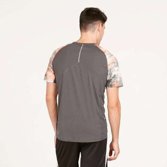PUMA GRAPHIC Camiseta Running Gris Hombre