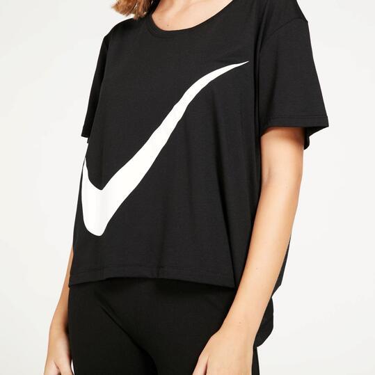 NIKE Camiseta Holgada Negra Mujer