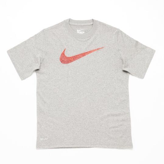 NIKE Camiseta Manga Corta Gris Niño (10-16)