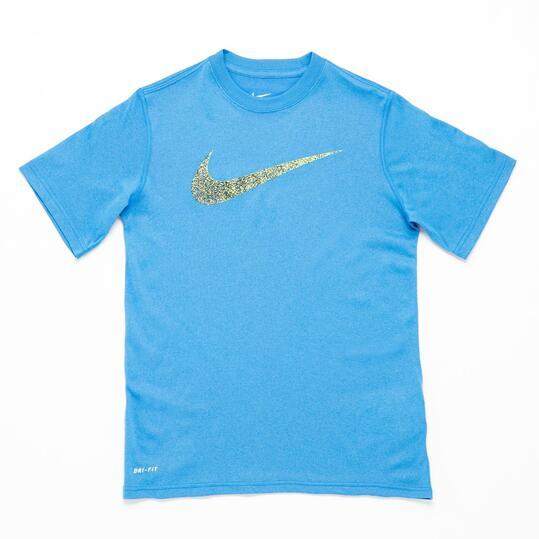 NIKE Camiseta Manga Corta Azul Niño (10-16)
