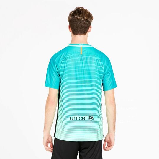 NIKE Camiseta Barça 3ªEquipación Azul Turquesa Hombre