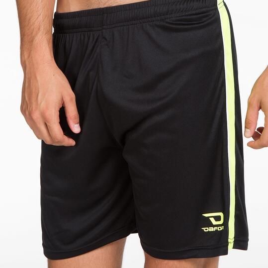 Pantalón Fútbol DAFOR Negro Amarillo Hombre