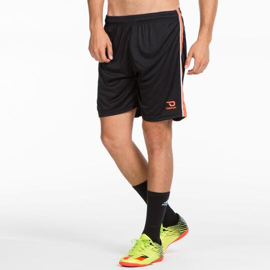 Pantalón Fútbol DAFOR Negro Naranja Hombre