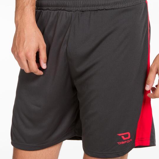 Pantalón Fútbol DAFOR Gris Rojo Hombre
