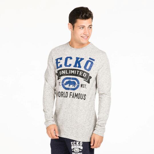 ECKO BEEKMAN Camiseta Gris Hombre
