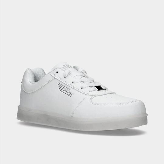 Zapatillas Luces SILVER Blancas Niño