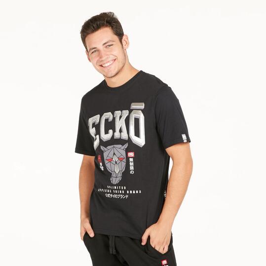 ECKO SANCTUM Camiseta Negra Hombre
