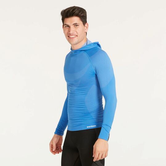 Camiseta Interior Capucha BORIKEN Azul Hombre