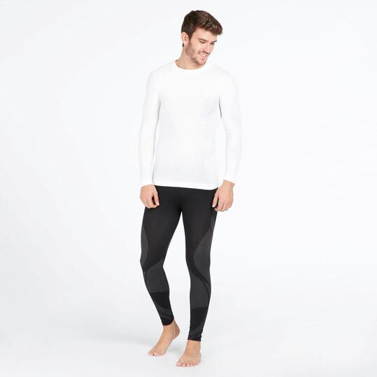 Camiseta Interior Manga Larga BORIKEN Sin Costuras Blanco Hombre