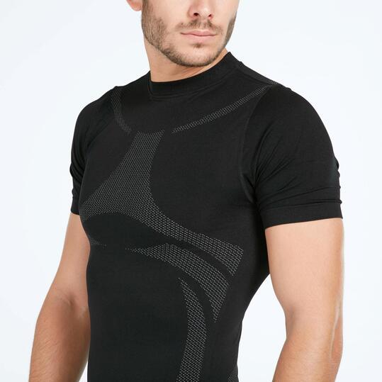 Camiseta Interior BORIKEN Sin Costuras Negro Hombre