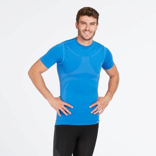 Camiseta Interior BORIKEN Sin Costuras Azul Hombre