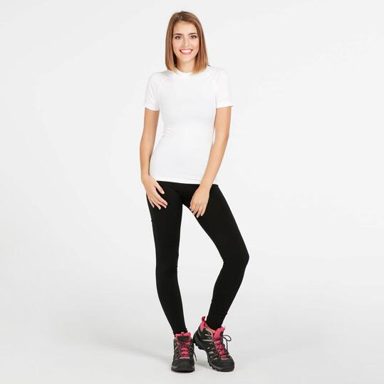 Camiseta Interior BORIKEN Sin Costuras Blanco Mujer