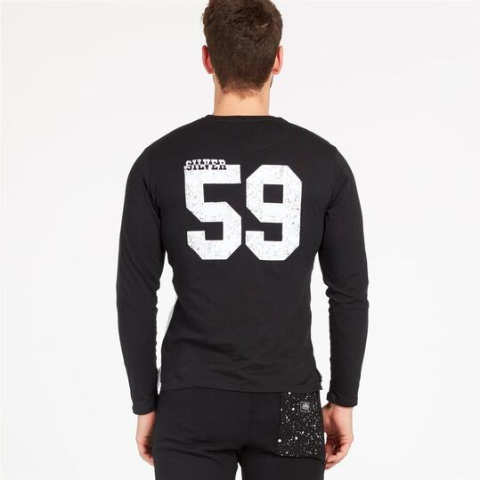 Camiseta Manga Larga SILVER ALBAREAL Negro Hombre