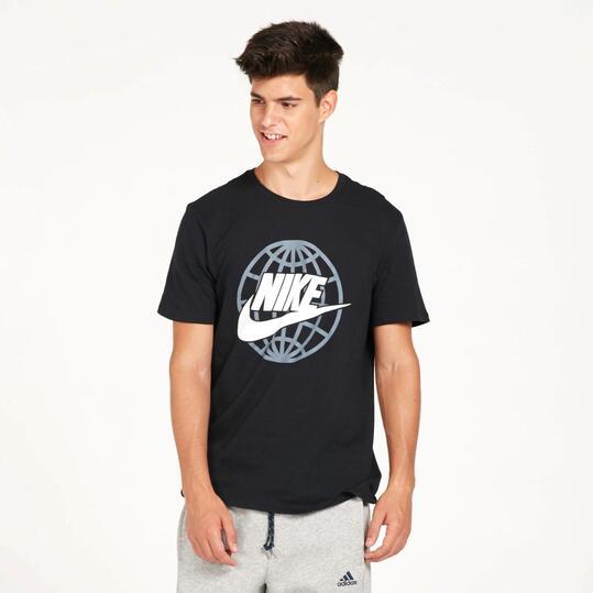NIKE WORLDWIDE Camiseta Negra Hombre