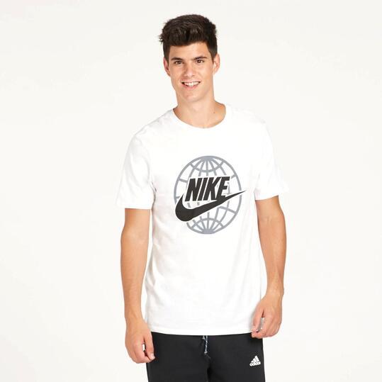 NIKE WORLDWIDE Camiseta Blanca Hombre