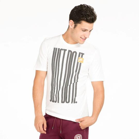 NIKE JDI Camiseta Manga Corta Blanca Hombre