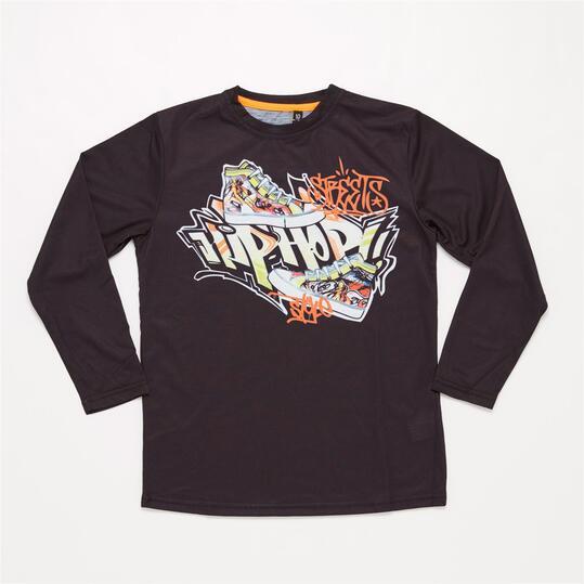 Camiseta Manga Larga SILVER HIP HOP Negra Niño (10-16)
