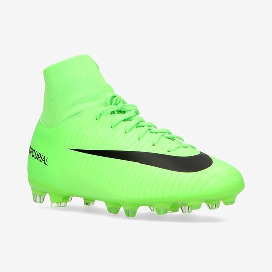 4de9ceafc1854 NIKE MERCURIAL VORTEX 6 Botas Fútbol CR7 Verde Niño (36 38