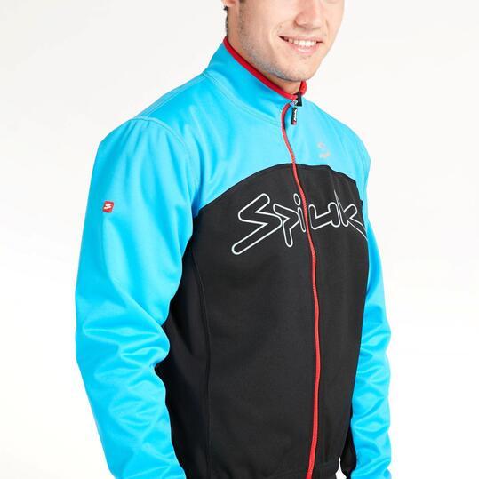SPIUK Chaqueta Ciclismo Negra Azul Hombre