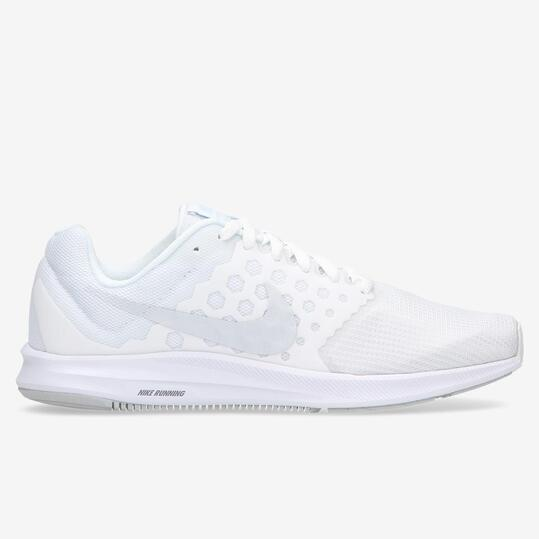 NIKE DOWNSHIFTER 7 Zapatillas Running Blancas Mujer