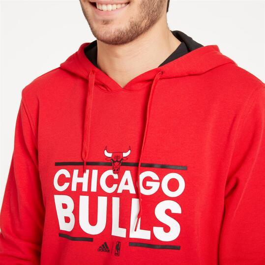 ADIDAS Sudadera Capucha Chicago Bulls Rojo Hombre
