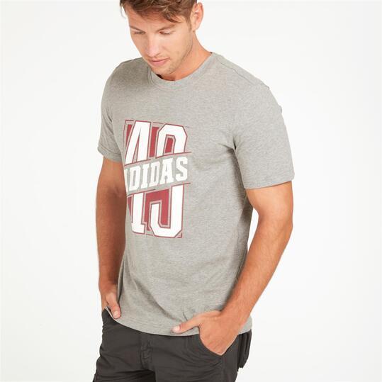 ADIDAS Camiseta Gris Hombre