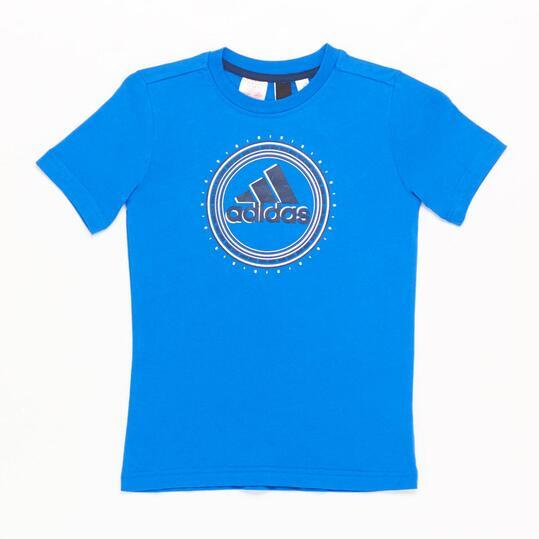 ADIDAS Camiseta Manga Corta Azul Niño (10-16)
