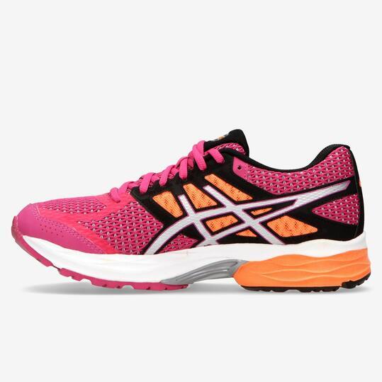 zapatillas running asics mujer rosas