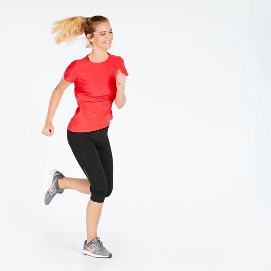 Camiseta Running Asics Fucsia Mujer