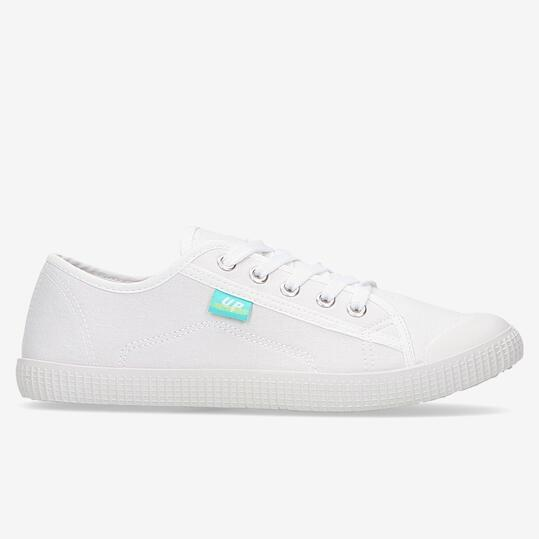 Zapatillas Lona UP Blanco Mujer